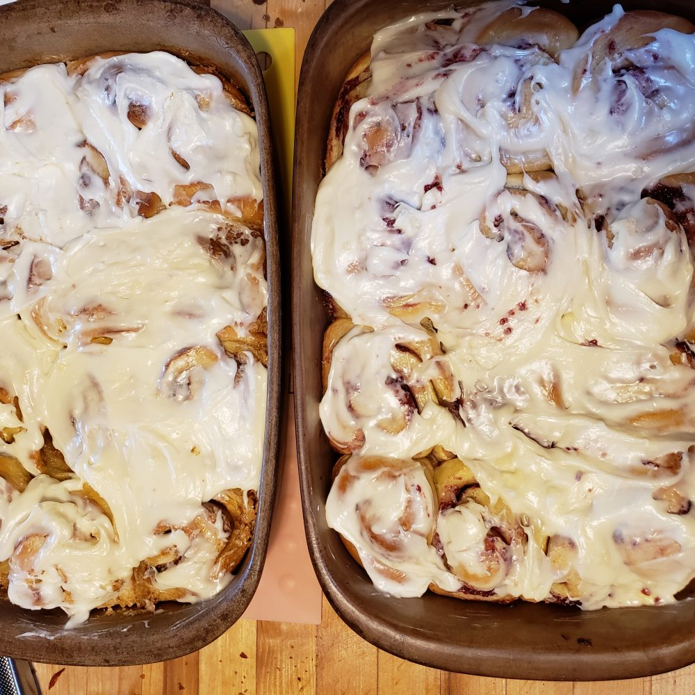 Cinnamon Rolls or Raspberry Rolls